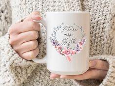 Items similar to Future Mrs. Smith engagement gift mug with custom name and date, bridal shower gift, engagement gift mug, custom bride to be gift, mrs. mug on Etsy Wedding Favors, Wedding Gifts, Bridal Shower Gifts, Handmade Design, Engagement Gifts, Bride Gifts, Mug Designs, Gifts In A Mug, White Ceramics