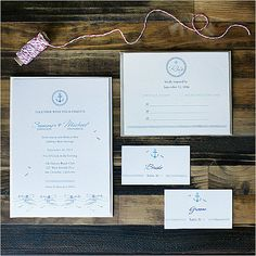 These nautical wedding invites will suit any beach wedding. Source: Wedding Chicks