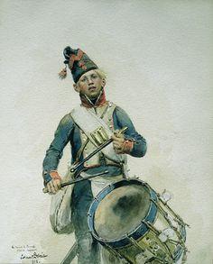Tamburo della fanteria di linea francese