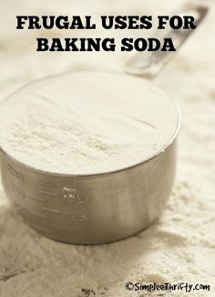 Frugal Uses for Baking Soda: Baking soda is wonderful to have on hand because of the many handy ways it can be used around the house. You can substitute one box of baking soda, for several individual household cleaners and beauty products, which can save you a great deal of cash. Check out all these awesome ways to use Baking Soda!