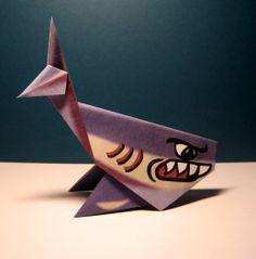 Origami Shark - Origami Folding Instructions