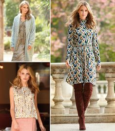 Soft prints with 3D-effects lend these flowing dresses and tops from the September 2016 issue of BurdaStyle exceptional depth and flexibility. They are styled perfectly with coats and waistcoats sewn with cozy bouclé and cool glossy looks.