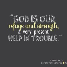 God is our refuge.