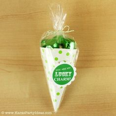 St. Patricks day cone with free printable