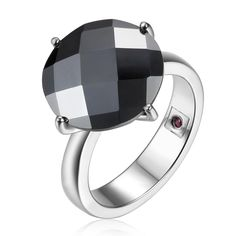 Women's Sterling Silver Hematite Ring, COCKTAIL HOUR Collection – ELLE Time & Jewelry