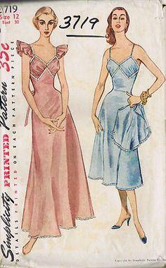 Simplicity Pattern  # 3719  Copyright: 1951