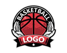 Basketball Logo Logo design - Praying hands and a basketball is presented in this artistic and unique logo. If you're tired of the overused and cliché cross then you found the perfect logo, a logo which is modern and can be showcased with pride on your teams jerseys.