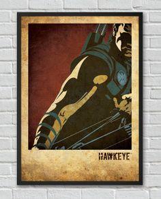 Hawkeye The Avengers inspired vintage movie poster by FlickGeek, $11.00