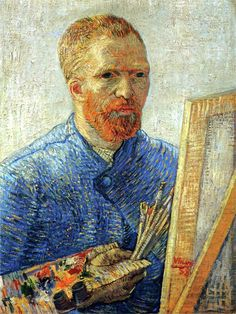Self-portrait as a painter Vincent van Gogh (Dutch, Post-Impressionism, Oil on canvas. Van Gogh depicts himself as an artist, with all the necessary. Art Van, Van Gogh Art, Van Gogh Pinturas, Van Gogh Portraits, Van Gogh Self Portrait, Vincent Van Gogh, Van Gogh Museum, Art Museum, Van Gogh Paintings