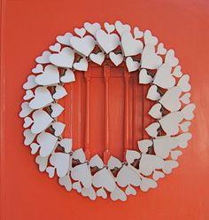 white hearts wreath