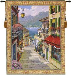 Bellagio Village Tapestry Wall Art Hanging