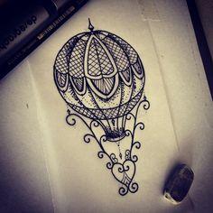 tentativa de balao #balao #balloon #vintage #ornamento #hotairballoon…
