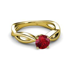 Ruby Infinity #Solitaire Engagement Ring in 14K Gold.... - 30-day returns #love #gift #engagementring #ruby #trijewels