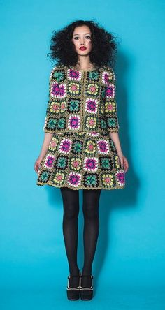 Granny Square Chic Fashion: Inspiration!: