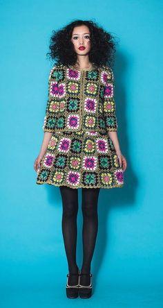 Granny Square Chic Fashion: Inspiration!:
