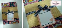 Caderneta de bolsa com encadernação manual com costura japonesa. Produzida com tecido 100% algodão. Curta a nossa Fan Page e consulte nossas opções, conheça nossos trabalhos!