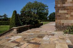 Reclaimed Yorkstone Paving at Hillsborough Castle - Wilsons Yard #yorkstone #reclaimed #paving #hillsborough