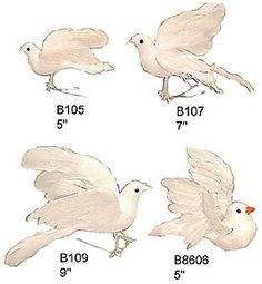 Artificial Dove Bird Props for Christmas, Weddings ,I retail store decor, restaurants, hotels, casinos, theaters, movies, tv commercials and so much more!