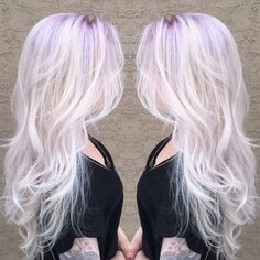 """Soft & pretty blonde. With a pop of color ! ... """"Unicorn blonde"""""""