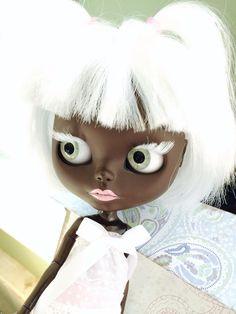 Custom Black Blythe Doll OOAK named Raven Snow by by EmmyBlythe, $850.00