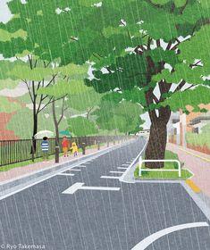 Behance :: 專屬於您 Ryo Takemasa, Earth Day, Digital Illustration, Beats, Photoshop, Magazine, Type, Gallery, Summer