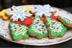 BBC had-painted Christmas cookies