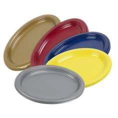 5, 10, 25, 50, 100 x Disposable 12  Inch Plastic Oval Food Sandwich Platter Tray