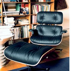 The Lounge Chair is one of the most famous designs by Charles and Ray Eames. Created in 1956 it is now a classic in the history of modern furniture. Since 1956, the Eames Lounge Chair has combined ultimate comfort with both materials and workmanship of the highest quality. In the tradition of the English club chair, which inspired this classic design, the original appearance of the Lounge Chair was defined by a dark wood veneer and black leather.
