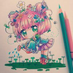 Otro dibujo para una chica que me hizo muchos dibujos n.n Y aqui me tienen, no…