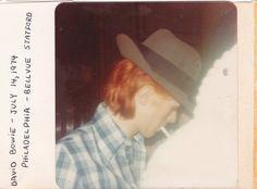 David Bowie 1974.  Photo  possibly by Coco Schwab
