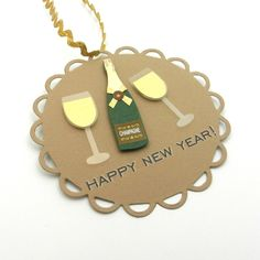 Make your gifts New Years worthy with fun DIY gift tags.