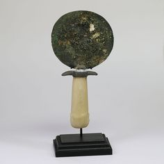 Ancient Egyptian Bronze Mirror with handle - 17 cm