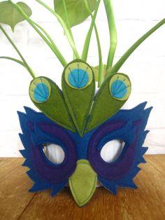 Felt Peacock mask by littlebitdesignshop on Etsy