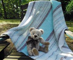 Soft Knitted Baby Afghan Handcrafted Baby by FromPurlsToPearls