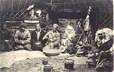 Kirghiz Family in Yurt, Central Asia