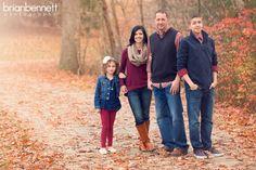 Fall Family Photo, Burgandy & Navy