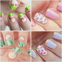 Mani Swap with Polished Elegance - Elegant Roses Nail Art
