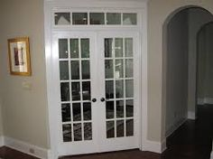 Interior Double French Doors - traditional - Home Office - Other Metro - McSpadden Custom Homes Interior Double French Doors, Upvc French Doors, Internal French Doors, French Doors Patio, Patio Doors, Interior Columns, Door Design Interior, Interior Barn Doors, Interior Decorating