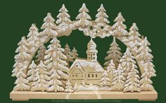 Church in the snowy woods