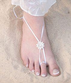 Beach Wedding Lanai Barefoot Sandals Diy Barefoot Sandals, Bare Foot Sandals, Beach Sandals, Crochet Sandals, Crochet Shoes, Wedding Shoes, Wedding Stuff, Wedding Trends, Wedding Ideas