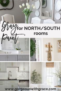 The best gray paint for north south facing homes. Choosing paint can be complicated but these colors work perfectly in a north south facing home. Best Gray Paint, Best Paint Colors, Grey Paint, Greige Paint Colors, Bedroom Paint Colors, Gray Basement, Basement Ideas, Exposed Ceilings, Cozy Living