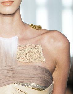Mixed Textures - assorted fabric & fibre bands; fashion details // rodarte
