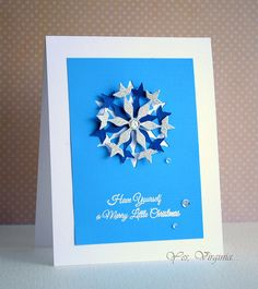 Girl Friday Virginia created a card that will inspire you to have yourself a Merry little Christmas using our Flurry Fri-Dies and Must Love Snowflakes stamps. www.cas-ualfridaysstamps.com #casfridays #snowflakes