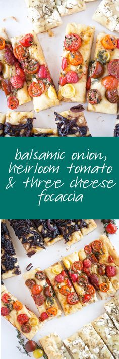 This three flavor, balsamic onion, heirloom tomato and three cheese focaccia is the perfect additional to ANY meal - easy to make and packed full of flavor!