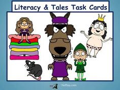 In Literacy & Tales Task Cards, 3rd or 4th grade learners ponder events, character traits and the central messages of six fun, lively and familiar stories.  This ELA center, game or cooperative learning tool includes 30 task cards and a key.  The questions involve these widely read and familiar stories:  ~The Emperor's New Clothes~ ~Sleeping Beauty~ ~Goldilocks and the Three Bears~  ~Little Red Riding Hood~ ~The Pied Piper of Hamelin~ ~The Princess and the Pea~  This lesson is aligned to ...