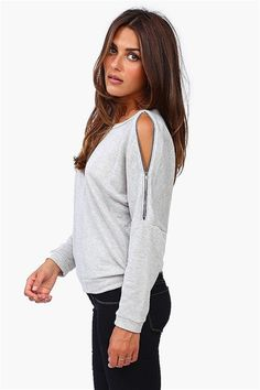 Zip Up Sweatshirt in Grey