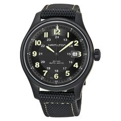 Black tactical automatic field watch from Hamilton. Worn by Chris Pine in the movie Jack Ryan: Shadow Recruit.