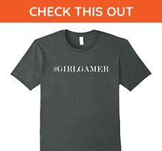 Mens Awesome #GIRLGAMER hashtag girl gamer (gift gaming night)    Small Dark Heather - Gamer shirts (*Amazon Partner-Link)