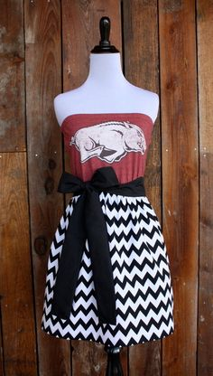 University of Arkansas Strapless Game Day Dress  by jillbenimble