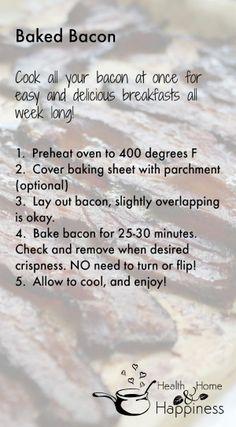 Baked Bacon - so easy